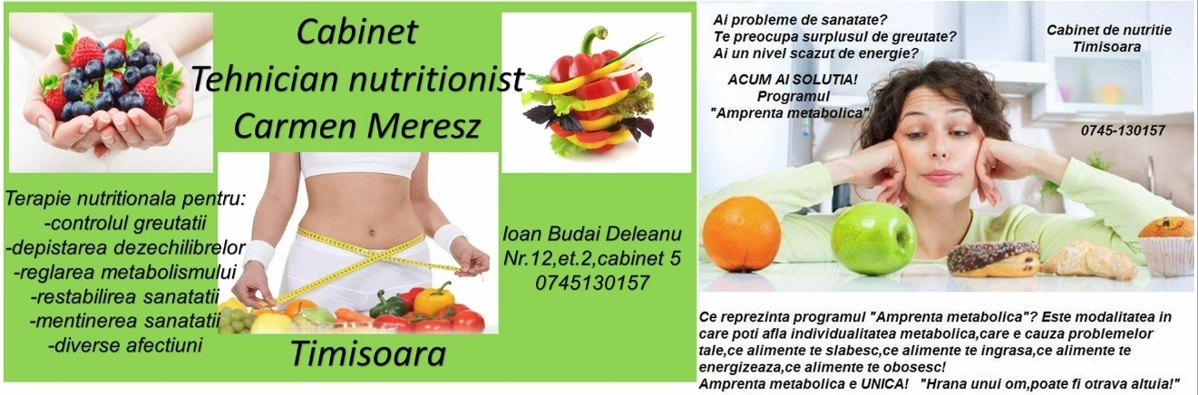 cabinet nutritionist timisoara